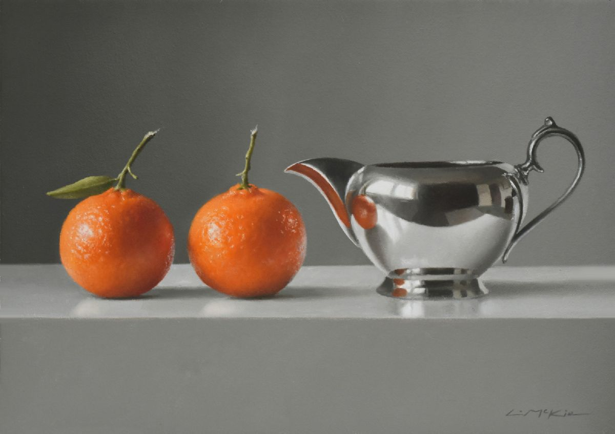 Mandarins with Silver Jug