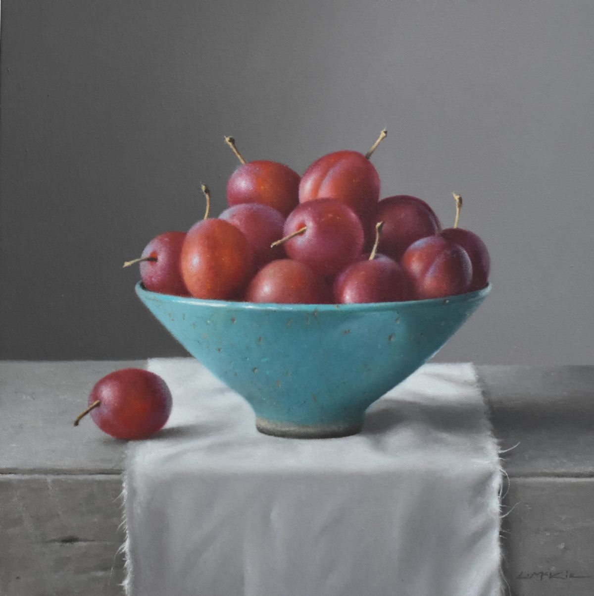 Victoria Plums in French Bowl