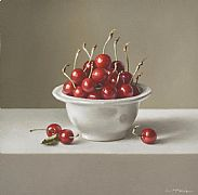 Cherries in Portugese Bowl by Lucy  McKie ROI