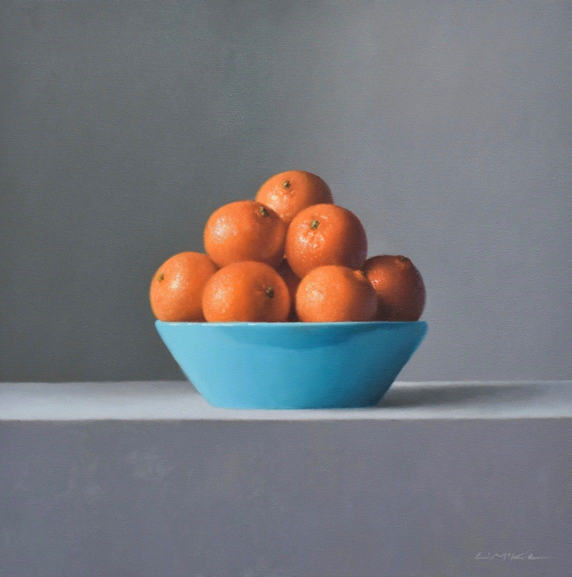 Clementines in Turquoise Bowl