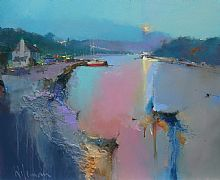 After the Regatta, Noss Mayo by Peter Wileman FROI RSMA FRSA