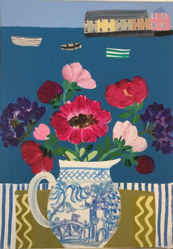 Anemones in the Chinese Jug  by Emma Williams