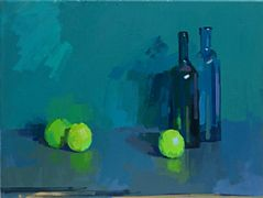 Apples and Bottles by Philip Richardson