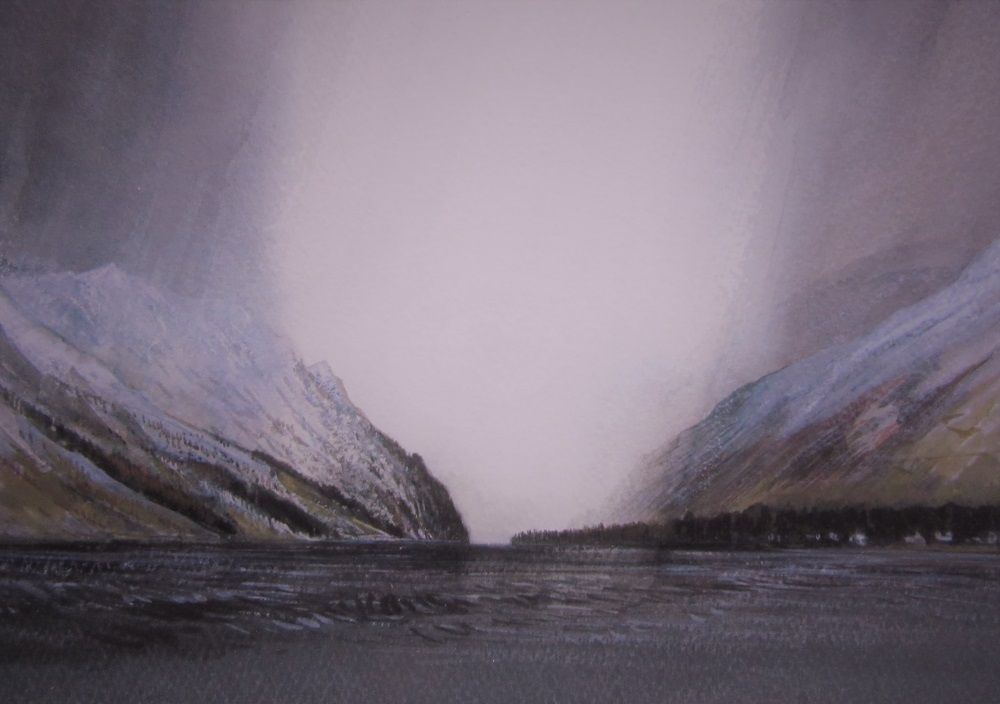Argyll Hills, Snow Squalls by Gregor Smith RSW