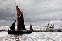 Barge at Harwich by David Porteous-Butler