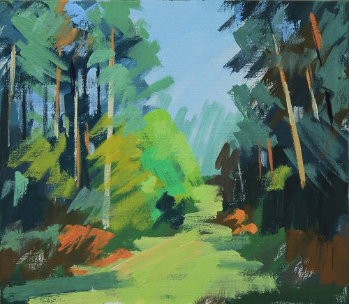 Bedgebury Forest, Feb study  by Philip Richardson