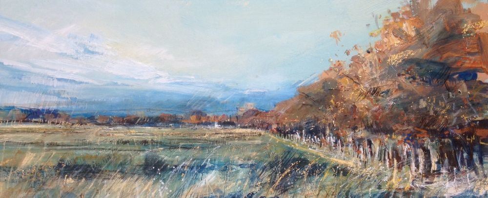 Beech Wood, Autumn Sky  by Sarah Carrington