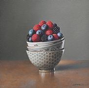 Berries in Three Bowls by Lucy  McKie ROI