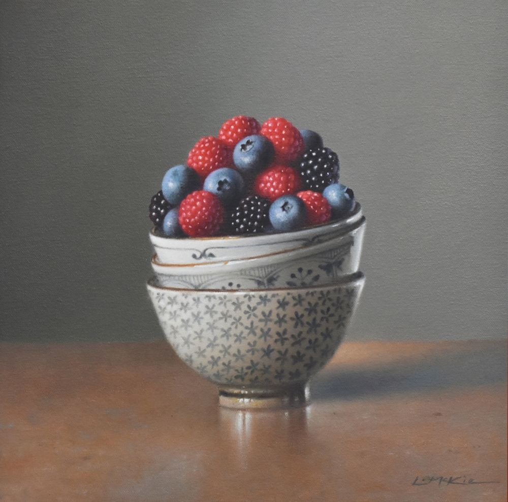 Berries in Three Bowls