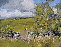 Birch Trees and Cows by Robert Newton