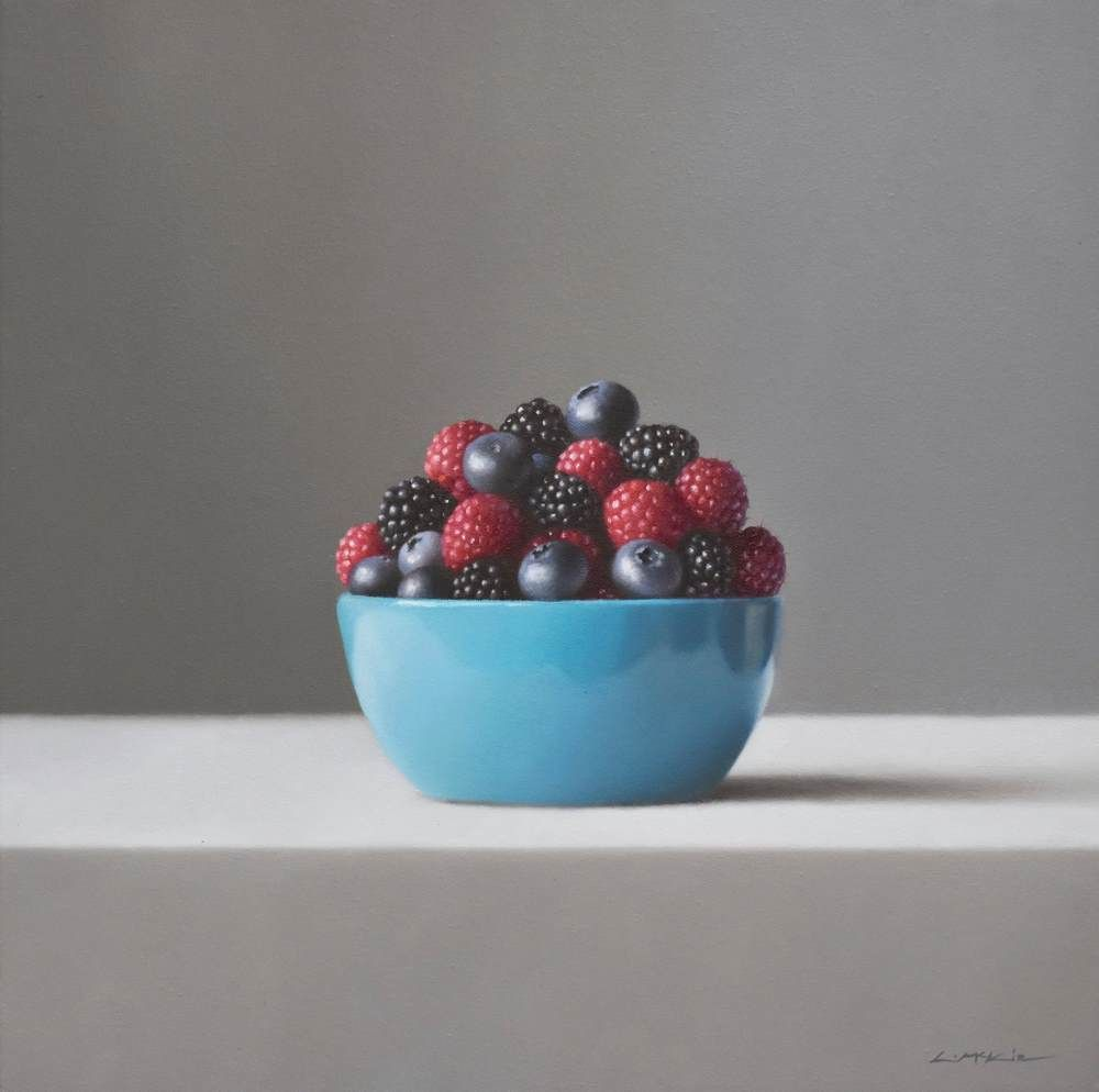 Blue Bowl with Berries