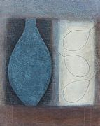 Blue Flask with Three Pears by Vivienne Williams RCA