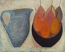 Blue Jug with Seven Pears by Vivienne Williams RCA
