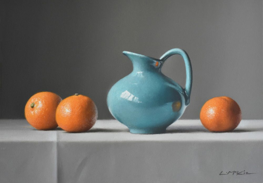Blue Jug with Clementines