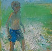 Boy and Wave by Rhonda Smith