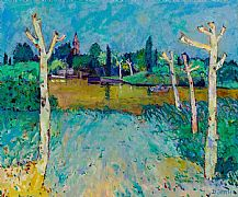 Canal Du Midi, Pucheric by David Smith RSW