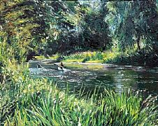 Canoeing at Dedham by David Porteous-Butler