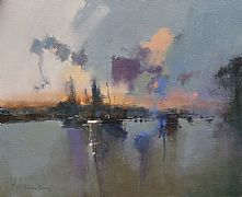 Christchurch Quay, River Stour by Peter Wileman FROI RSMA FRSA