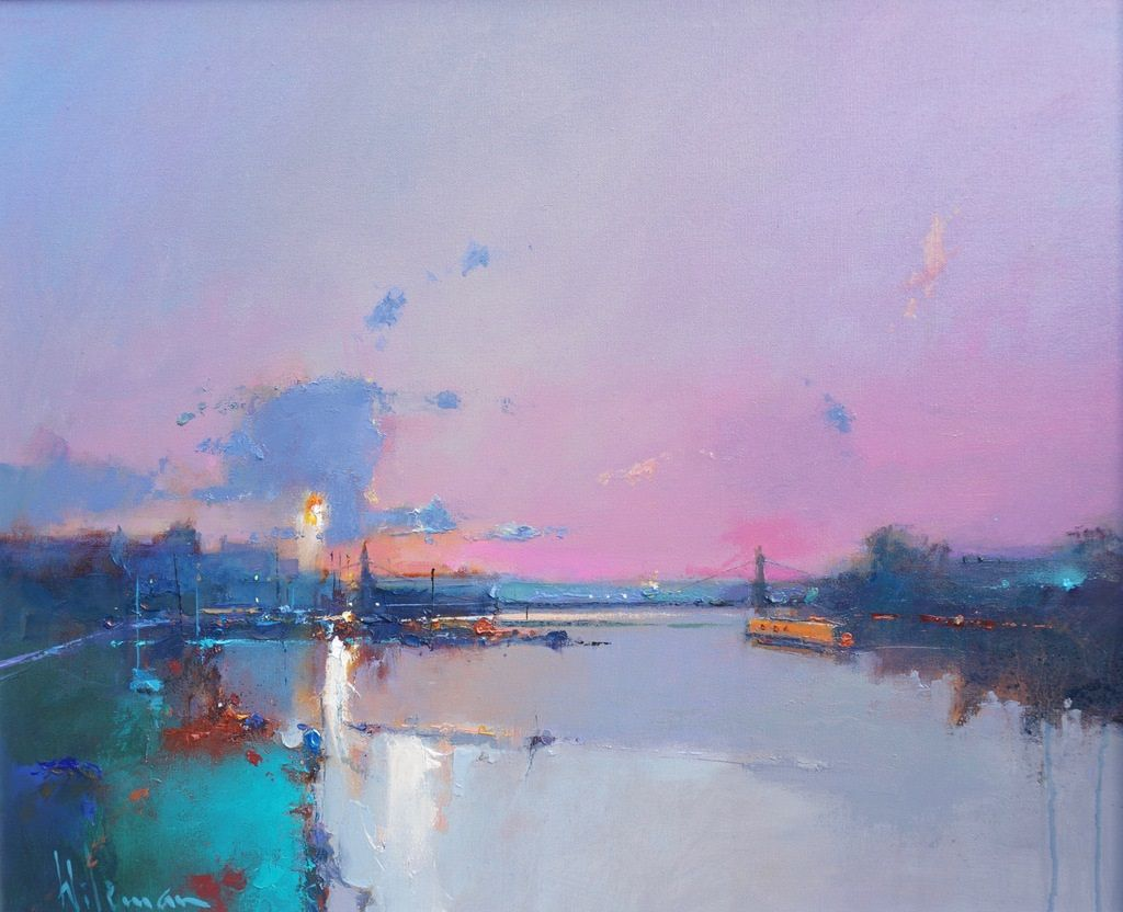 Dawn over Hammersmith by Peter Wileman FROI RSMA FRSA