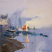 Dawn, Hammersmith by Peter Wileman FROI RSMA FRSA
