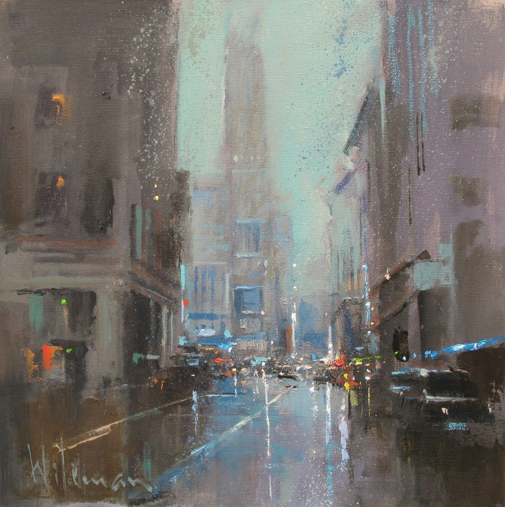 Dusk, New York by Peter Wileman FROI RSMA FRSA