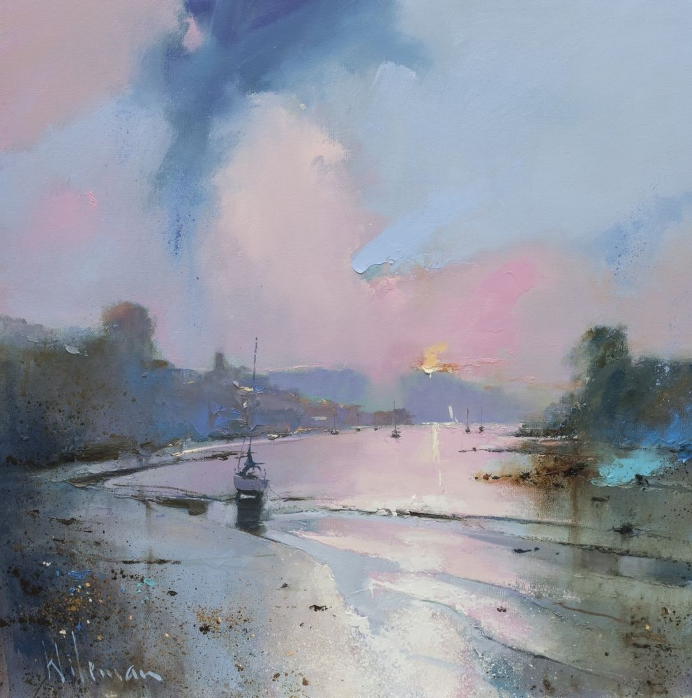 Evening Light on the Yealm, Noss Mayo  by Peter Wileman FROI RSMA FRSA