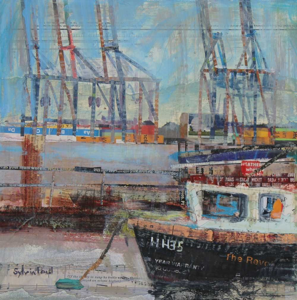 Fishing Boat and Cranes, Harwich