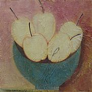 Five Apples in Blue Bowl by Vivienne Williams RCA