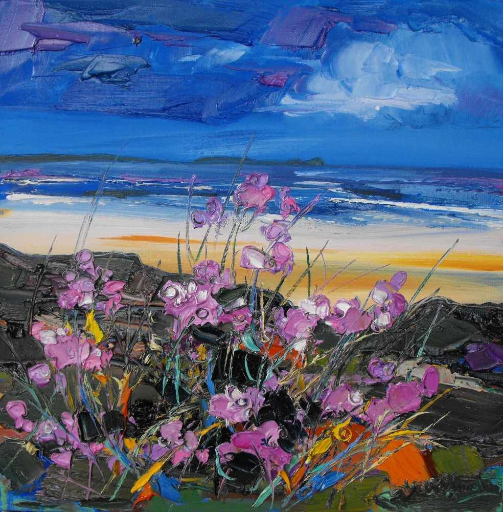 Flowers in the Dunes, Worms Head  by Judith I Bridgland
