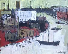 Gasworks and Warehouses, Bristol Harbour by John Evans