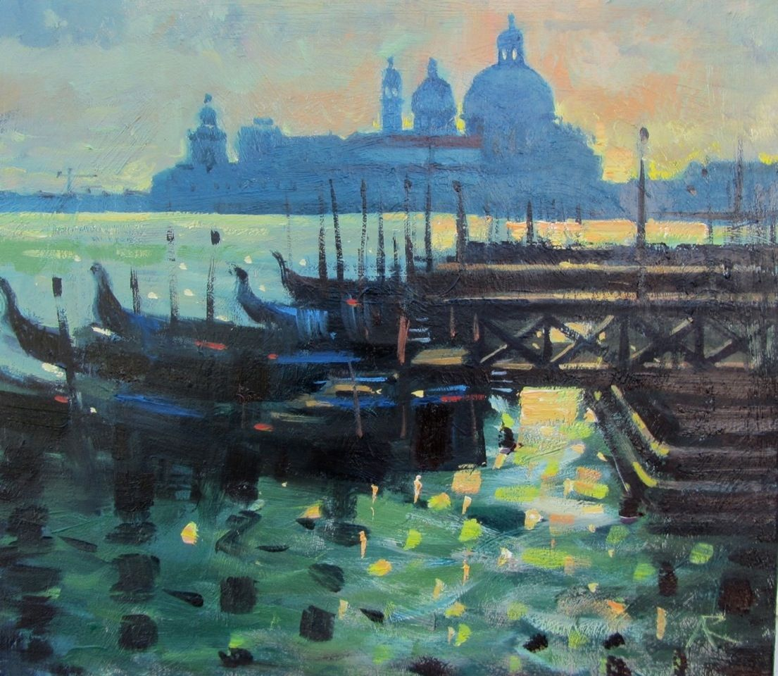 Golden Light Venice by Alexander R Robb DA