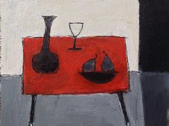 Interior With Red Table by John Evans