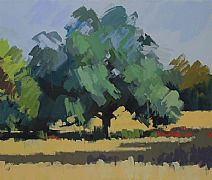 July Oak Tree by Philip Richardson