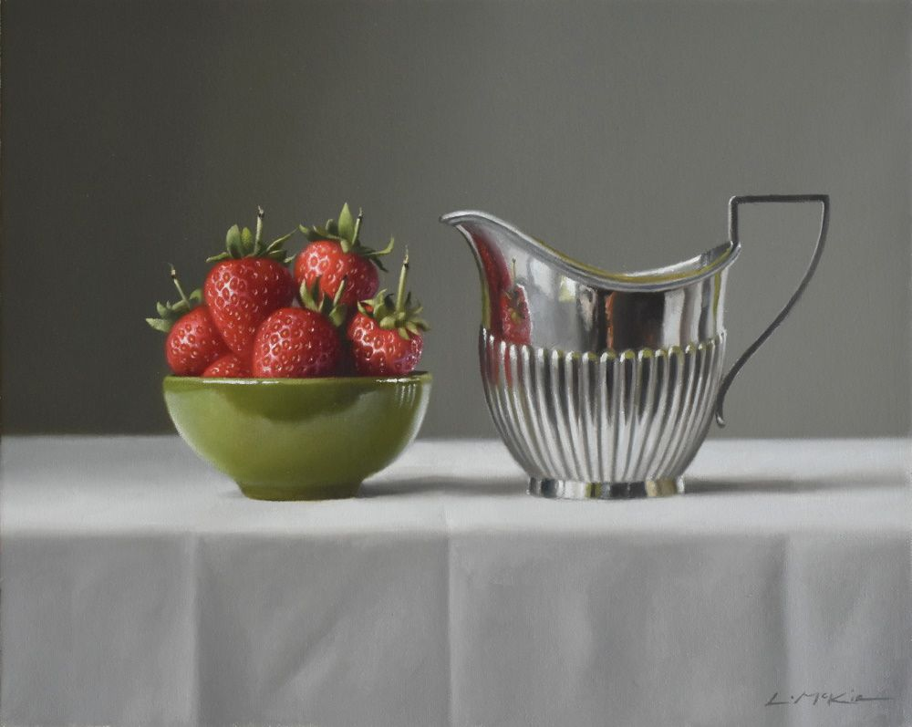 June Strawberries with Silver Jug