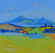 Kilchattan Bay and Arran by Peter King