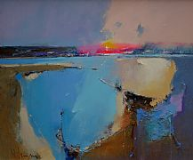 Late Sun Across the Bay by Peter Wileman FROI RSMA FRSA