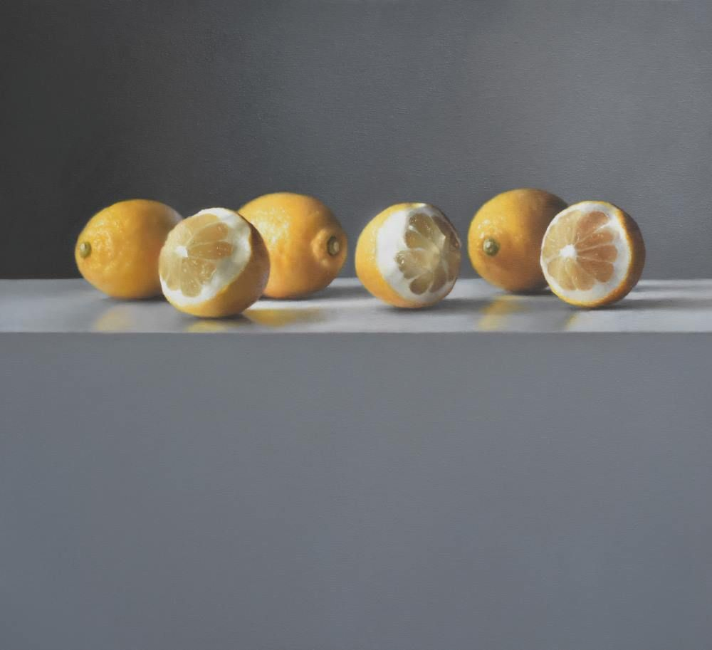Lemon Composition with Winter Light