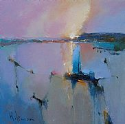 Light Trail in Cobalt by Peter Wileman FROI RSMA FRSA