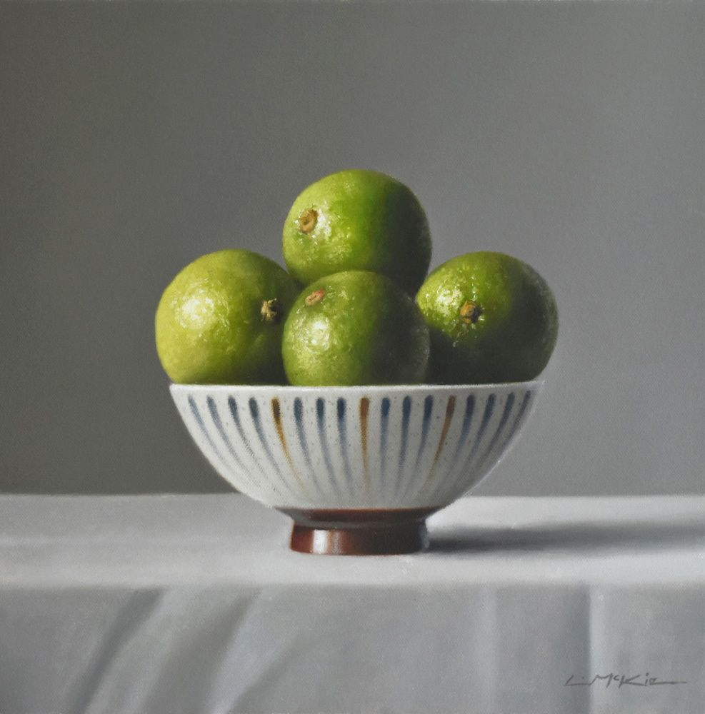 Limes in Japanese Bowl  by Lucy  McKie ROI