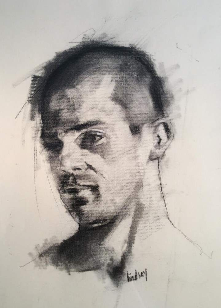 Male Head Study  by Steven Lindsay