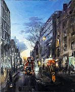 Oxford Street at Dusk by David Porteous-Butler