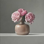 Peonies with Dutch Pot by Lucy  McKie ROI