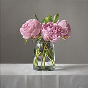 Pink Peonies by Lucy  McKie ROI