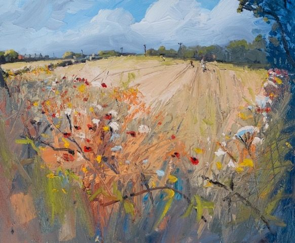Poppies, Brambles, Wheat by Robert Newton