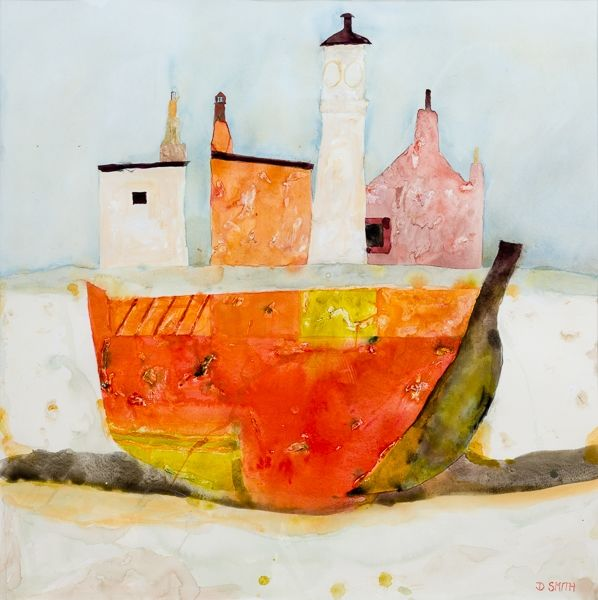 Red Boat, Kirkwall by David Smith RSW