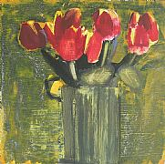 Red Tulips by Mhairi McGregor RSW