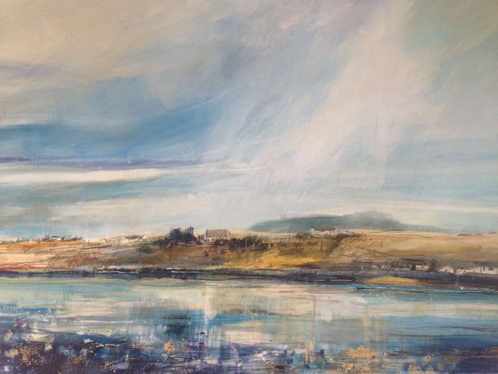 Reflections, Bunessan, Isle of Mull by Sarah Carrington