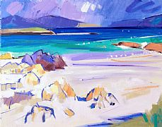 Rocks and Seashore, Iona by Marion Thomson