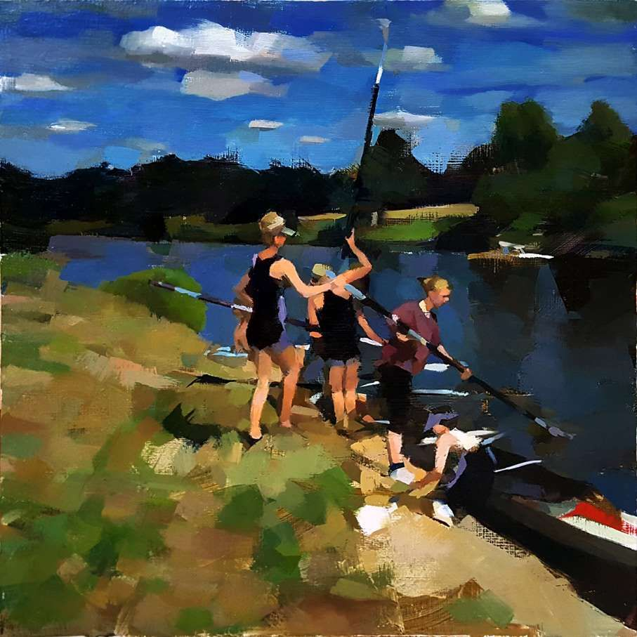 Rowers on the Stour by Chris Bennett ROI