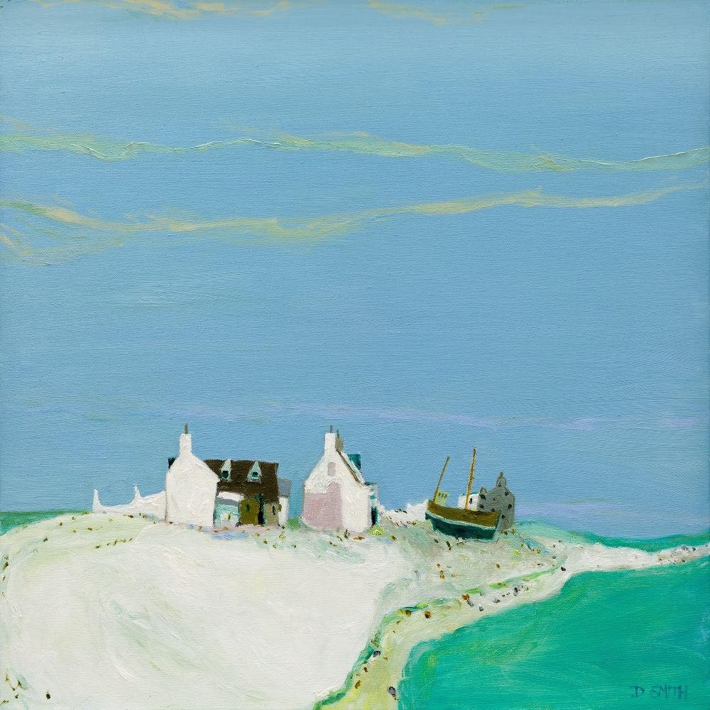 Sea of Green, Luskentyre  by David Smith RSW